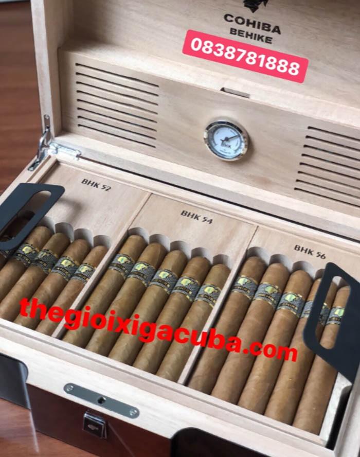 xì gà HUMIDOR COHIBA BEHIKE HỘP 30 ĐIẾU